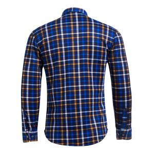 Flocking Checked Flannel Shirt - CHECKED 4XL