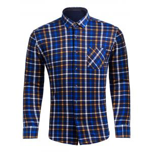 Flocking Checked Flannel Shirt