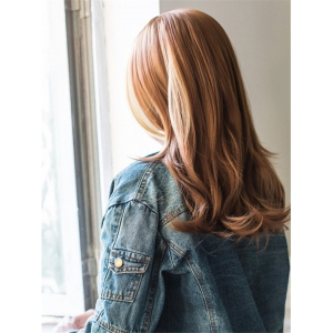 Long Side Parting Straight Color Mixed Capless Synthetic Wig -
