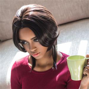 Short Middle Part Straight Capless Synthetic Wig -
