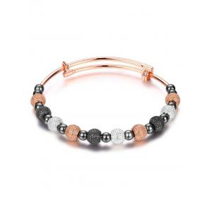 Adjustable Dull Polished Beads Bracelet