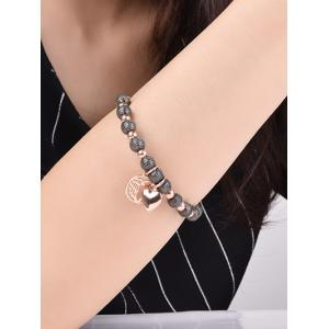 Dull Polished Beads Charm Bracelet -