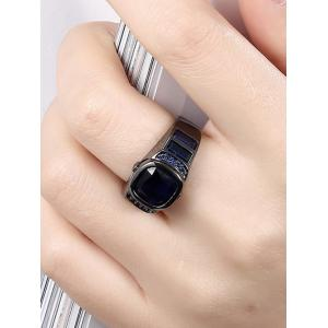 Vintage Artificial Gem Ring - BLUE 7