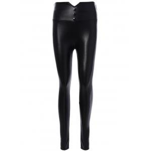 PU Leather High Waist Leggings