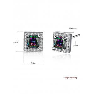 Rhinestoned Geometric Stud Earrings -