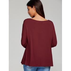 Cut Out Tee - WINE RED XL