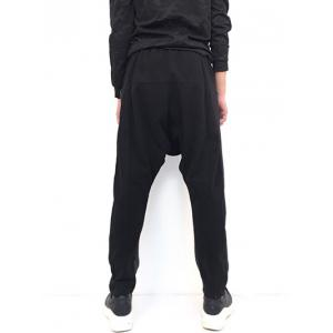Drop Crotch Loose Two Tone Pants -