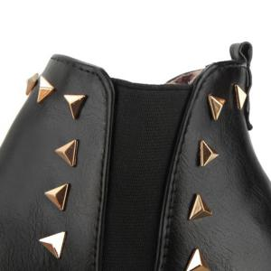 Pointed Toe Triangle Rivet Ankle Boots -