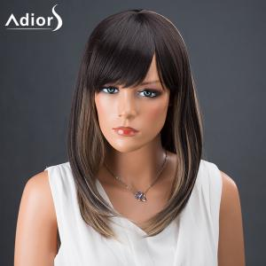 Adiors Hair Medium Side Bang Straight Colormix Synthetic Wig - COLORMIX