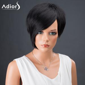 Adiors Hair Bobs Short Side Bang Asymmetric Srtraight Synthetic Wig -
