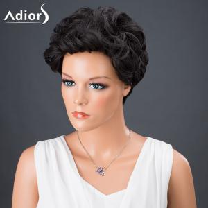 Adiors Hair Short Curly Synthetic Wig - BLACK