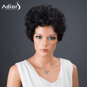 Adiors Hair Synthetic Short Bouncy Curly Wig - BLACK