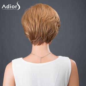 Adiors Hair Short Side Bang Colormix Boy Cut Srtraight Synthetic Wig - COLORMIX