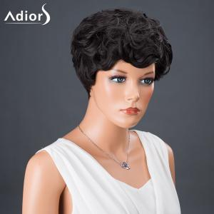 Adiors Hair Synthetic Short Full Bang Curly Wig -