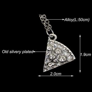 6PCS Sector Carving Best Friend Necklace - SILVER