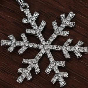 Layered Noël strass Snowflake Sweater Chain -