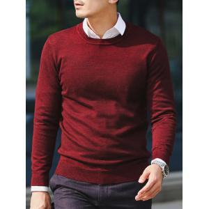 Slim Fit Crew Neck Pullover Knitwear