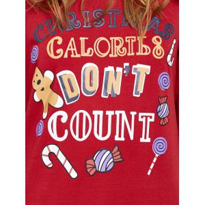 Pullover Sweatshirt with Christmas Graphic - RED XL