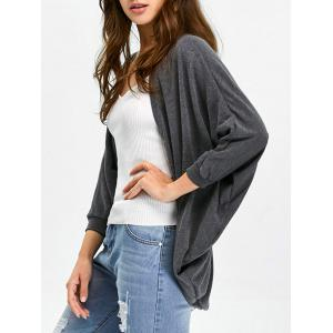 Asymmetric Batwing Sleeve Cardigan - Gray - One Size