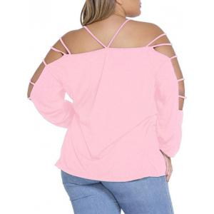 Plus Size Long Sleeve Cut Out Tee -