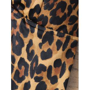 Leopard Print Lace Up Padded Bralet Top -