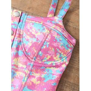 Tie-Dyed Padded Denim Bralet Top -