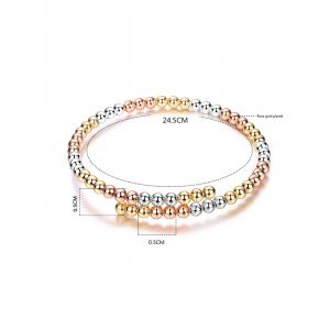 Alloy Polished Beads Bracelet -