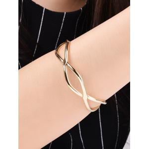 Infinite Glod Plated Cuff Bracelet - GOLDEN