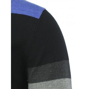 Crew Neck Contrast Color Sweater - GRAY 2XL