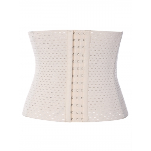 Buckle Openwork Corset - OFF-WHITE 5XL