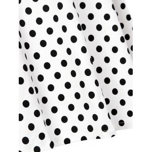 Vintage Polka Dot High Waist Dress - BLACK S