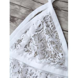 See Through Unlined Wave Cut Lace Bra -