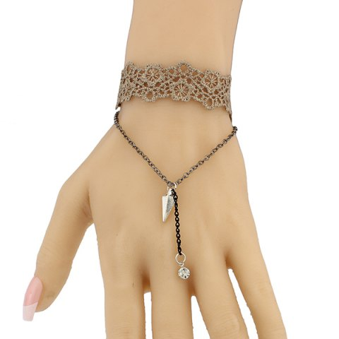 Buy Triangle Floral Hollow Out Bracelet BROWN