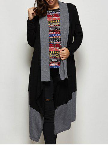Store Asymmetrical Shawl Collar Cardigan
