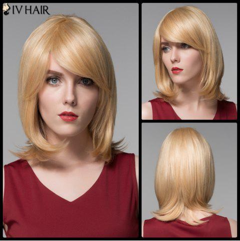 Store Siv Hair Faddish Medium Side Bang Straight Real Natural Hair Wig