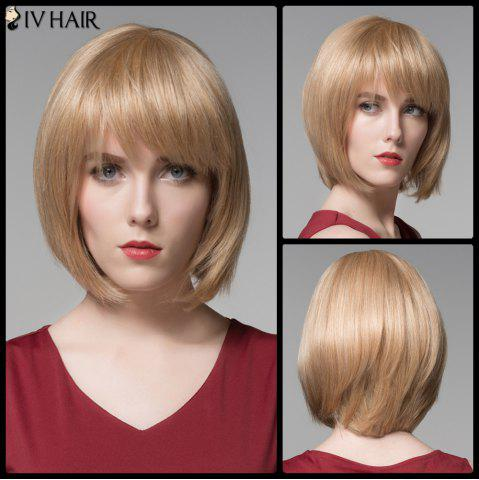 Shop Siv Hair Short Full Bang Straight Bobs Real Natural Hair Wig
