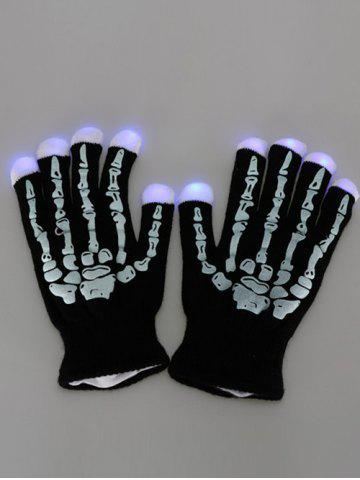 Shop Halloween Party Prop Supplies LED Skull Fingertip Lighting Gloves