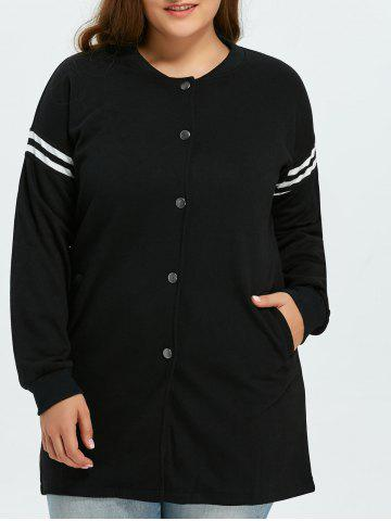 Buy Plus Size Striped Jacket