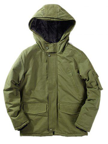 Shops Hooded Pockets Design Jacket