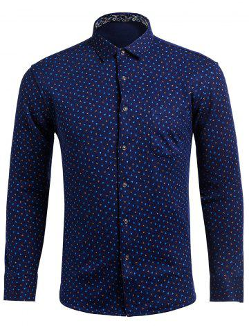 Cheap Turndown Collar All Over Printed Shirt