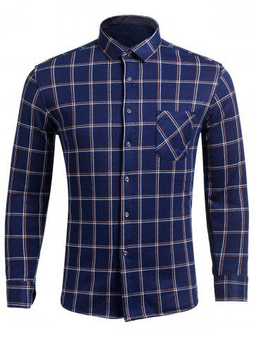 Outfits Long Sleeve Checked Shirt with Pocket