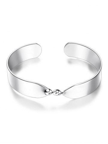 Twisted Infinite Cuff Bracelet - SILVER