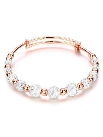 Fashion Dull Polished Mixed Beaded Bracelet SILVER AND GOLDEN