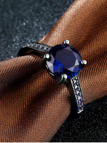 Unique Artificial Gemstone Finger Ring - 7 BLUE Mobile