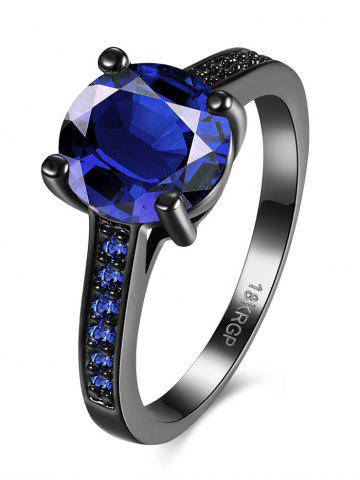 Trendy Artificial Gemstone Finger Ring - 7 BLUE Mobile