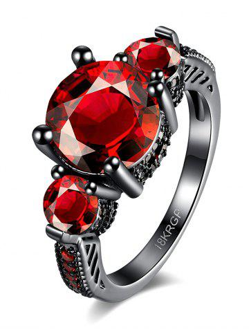 Discount Vintage Artificial Gemstone Ring RED 7