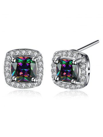 Cheap Faux Diamond Stud Earrings