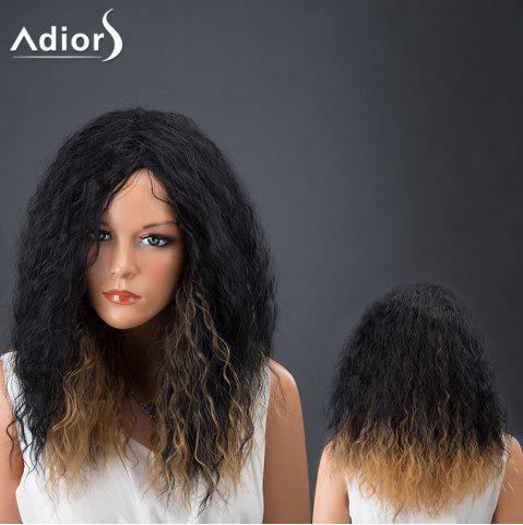 Fancy Adiors Hair Medium Afro Curly Colormix Synthetic Wig