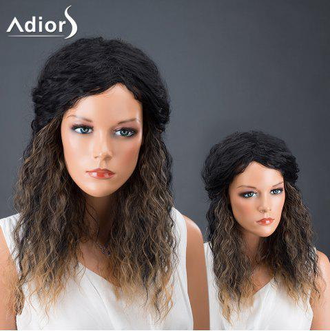 Chic Adiors Hair Afro Curly Medium Colormix Synthetic Wig COLORMIX