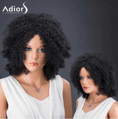 Fancy Adiors Hair Fluffy Medium Afro Curly Faddish Synthetic Wig